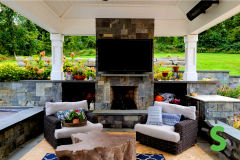 Outdoor Fireplace Mount