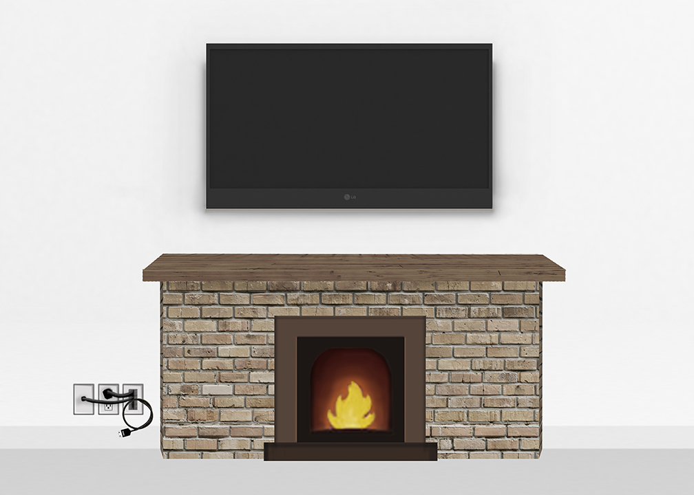 Gold Fireplace Mount Large Tv Mounting And Speaker Installation Service In Northern Virginia