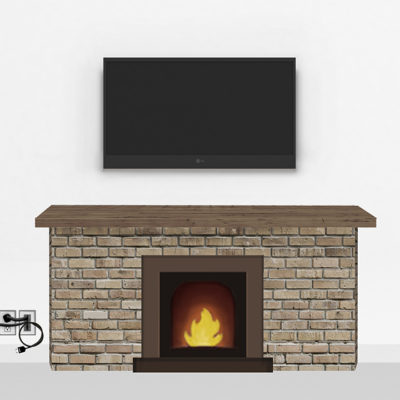 Gold Fireplace Mount Medium | TV mounting and Speaker Installation service in Northern Virginia