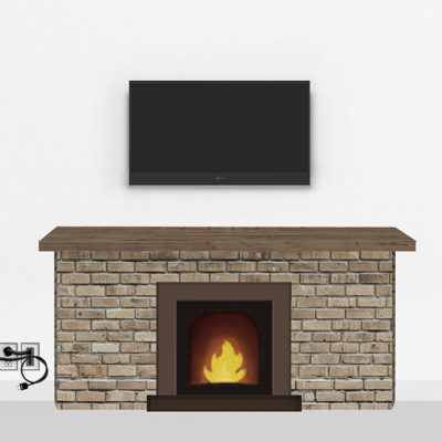 Gold Fireplace Mount Small |TV mounting and Speaker Installation service in Northern Virginia | Snappymount