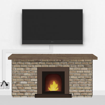 Silver Fireplace Mount Large | TV mounting and Speaker Installation service in Northern Virginia