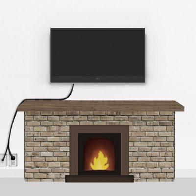 Bronze Fireplace Mount Medium | TV mounting and Speaker Installation service in Northern Virginia