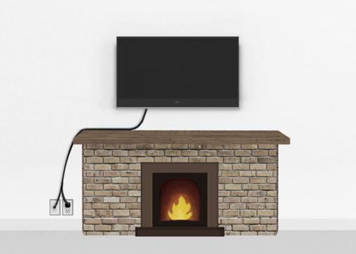 Bronze Fireplace Mount Medium   TV mounting and Speaker Installation service in Northern Virginia