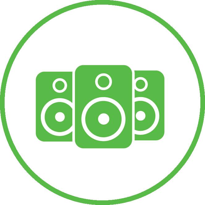 3 Speaker Icon | Speaker Installation Services