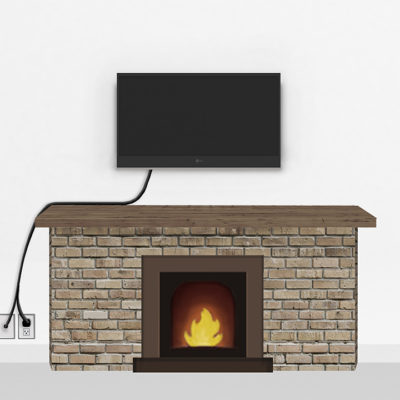 Bronze Fireplace Mount Small | TV mounting and Speaker Installation service in Northern Virginia