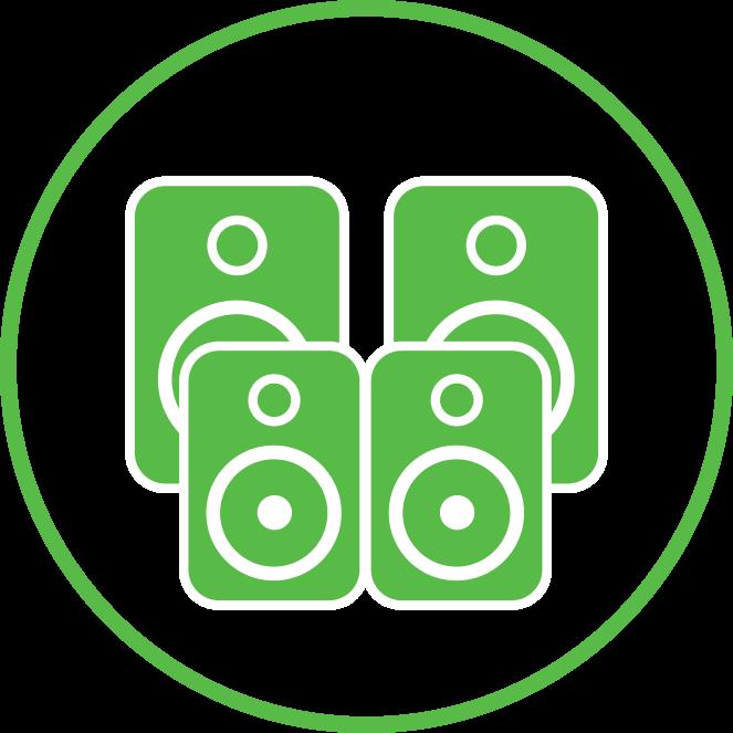4 speaker icon | Speaker Installation Services