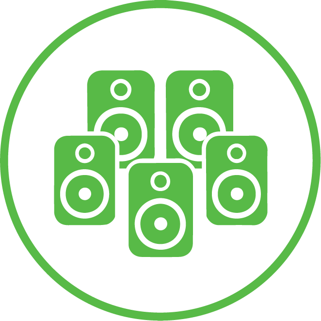 5 speaker icon | Speaker Installation Services