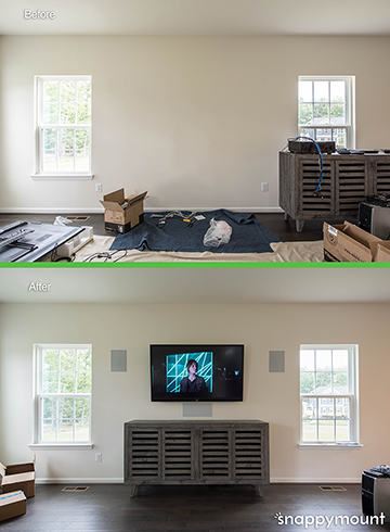 TV Mounting services example 1